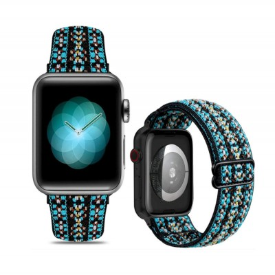 Stretchy Nylon Soft Band Compatible with Apple Watch Bands for iWatch Series 6/5/4/3/2/1/SE