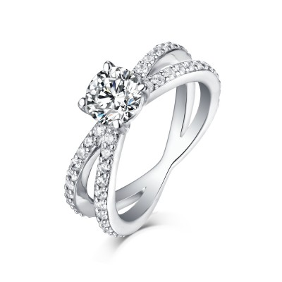 Cool 925 Sterling Silver White Sapphire Engagement Rings