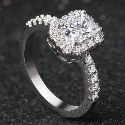 Emerald Cut Classic Halo Engagement Ring