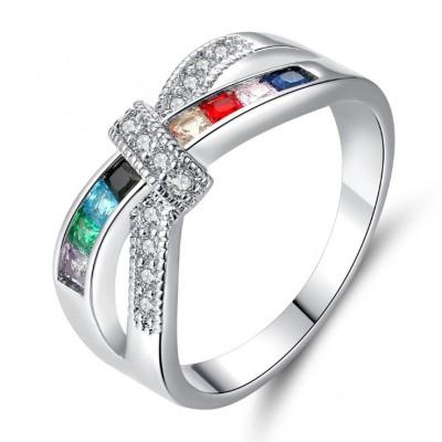 Unique Colorful Engagement Ring