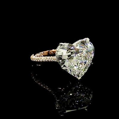 Heart Cut White Sapphire Gold 925 Sterling Silver Engagement Rings