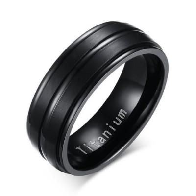 Titanium Cool Black Men's Ring