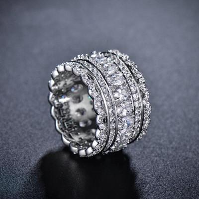Oval Cut White Sapphire Women's Wedding Bands