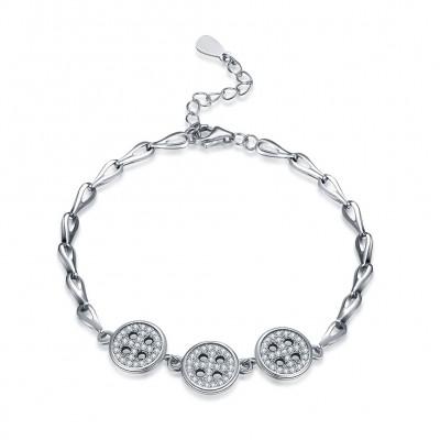 Lovely Silver Buttons Pendant S925 Silver Bracelets
