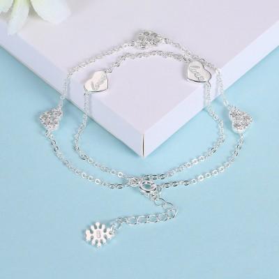 Rose Gold/Silver/Gold Hearts Love S925 Silver Bracelets