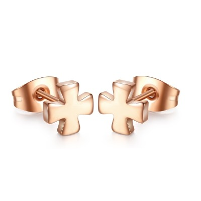 Cool Rose Gold 925 Sterling Silver Earrings