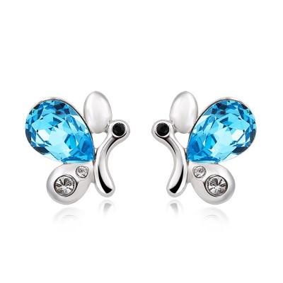 Pear Cut Aquamarine Lovely S925 Silver Earrings