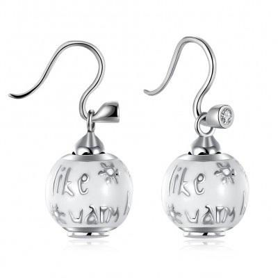Snowman Lovely S925 Silver Earrings