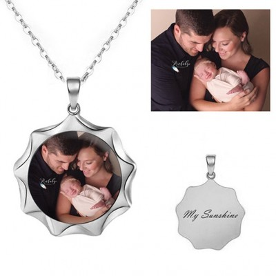 925 Sterling Silver Personalized Photo Necklace