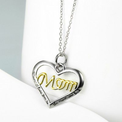 Gift for Mom 925 Sterling Silver Gold Necklace