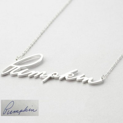 925 Sterling Silver Personalized Signature Name Necklace