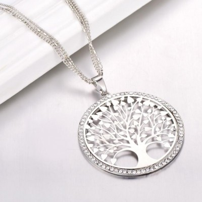 """Tree Of Life"" Silver Pendant Necklace"