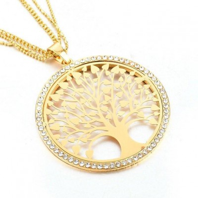 """Tree Of Life"" Gold Pendant Necklace"