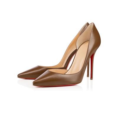 Women's Closed Toe Sheepskin Stiletto Heel High Heels