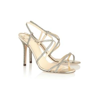 Women's Peep Toe Stiletto Heel With Buckle Sandals Shoes