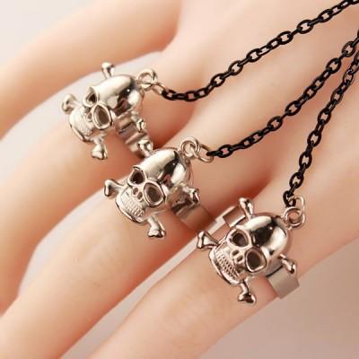Unisex Punk Wolf and Skull Bracelet