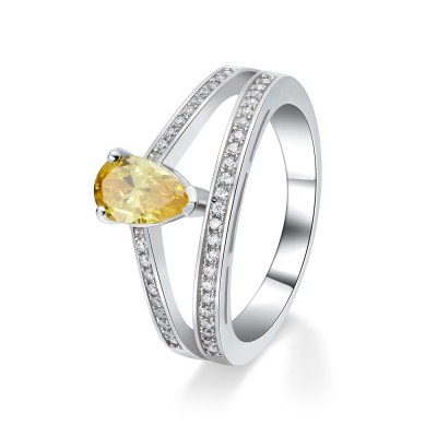 Pear Cut Topaz Sterling Silver Cocktail Ring