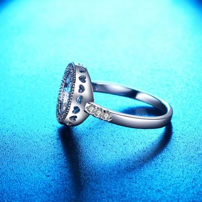 Unique Design White Sapphire Engagement Ring