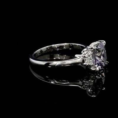 Radiant Cut Amethyst 925 Sterling Silver Engagement Rings
