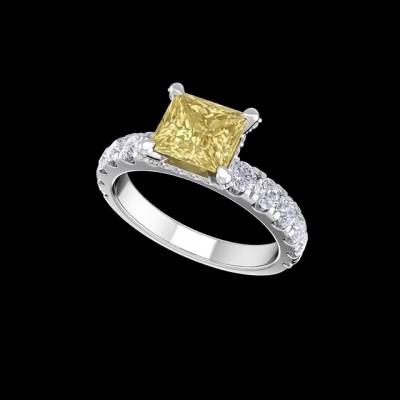 Asscher Cut Topaz 925 Sterling Silver Engagement Rings