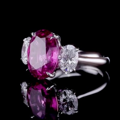 Oval Cut Amethyst 925 Sterling Silver Engagement Rings