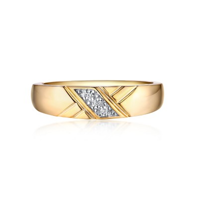 Round Cut White Sapphire Gold 925 Sterling Silver Wedding Bands
