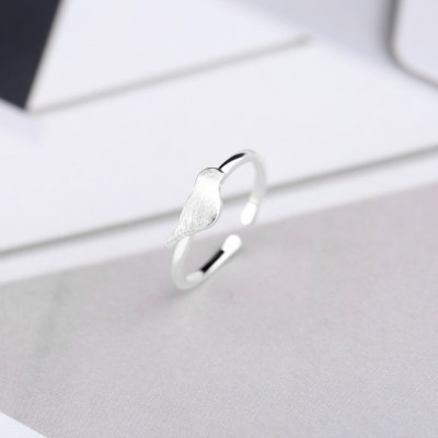 Cute Bird 925 Sterling Siver Promise Rings For Her