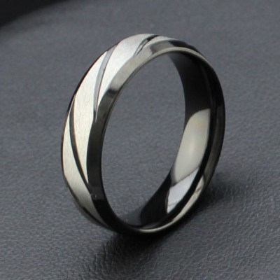 Cool Black Titanium Steel Men's Ring