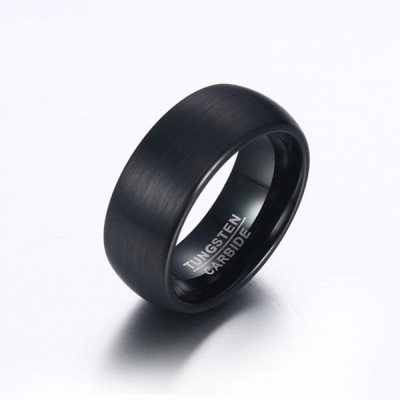 Tungsten Black Men's Ring
