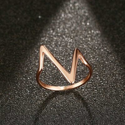 Titanium Nice Rose Gold Promise Rings For Her