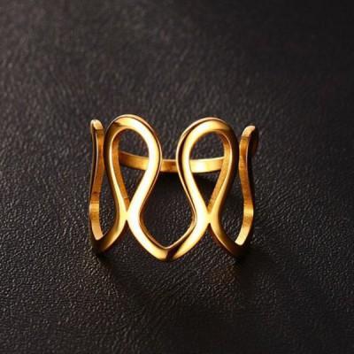 Titanium Gold Unique Promise Rings For Her