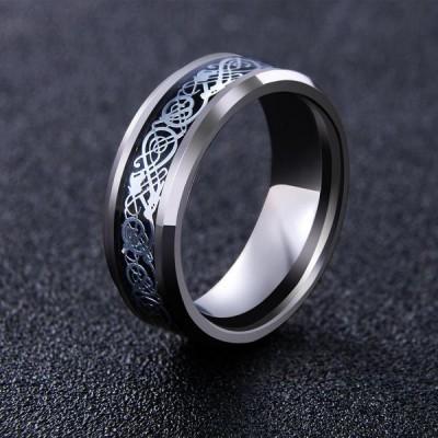 Dragon Design Tungsten Viking Men's Ring
