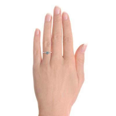 Lovely Pear Cut Aquamarine Engagement Ring
