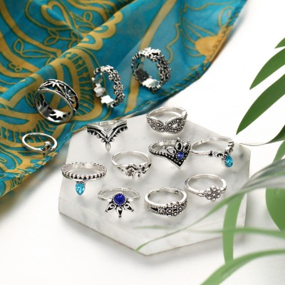 Vintage Flower Hollow 13-Piece Ring Sets