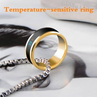 Men and Women Magic Titanium Steel Gold Temperature Rings