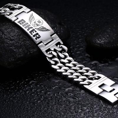 Biker Chain Design 925 Sterling Silver Bracelet