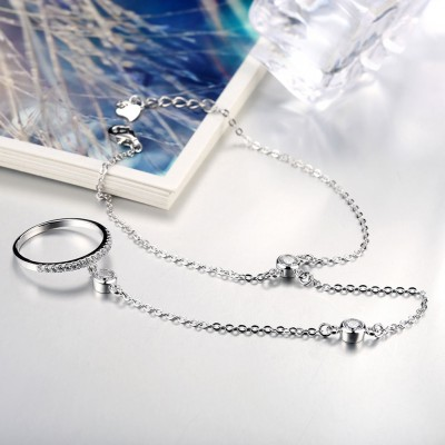Unique Gorgeous S925 Silver Ring Bracelets