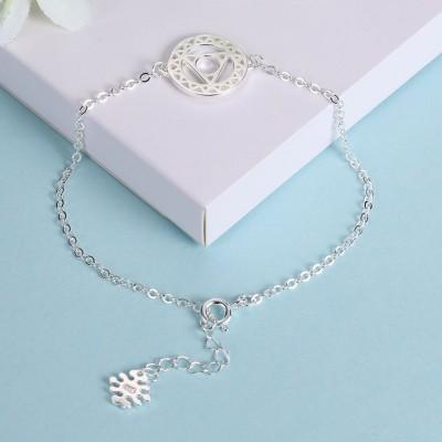 Rose Gold/Silver/Gold Nice Round Pendant S925 Silver Bracelets