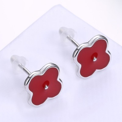 Red Clover S925 Silver Earrings