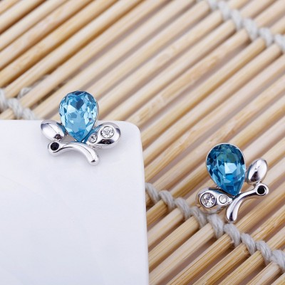 Pear Cut Aquamarine Lovely S925 Silver Earrings