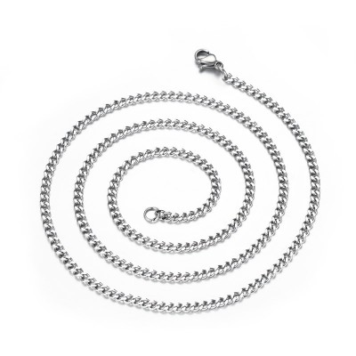 3mm Silver Titanium Steel Chains