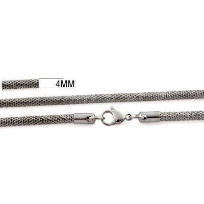 Silver Titanium Steel 4mm Chains