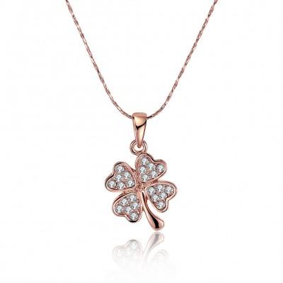 Round Cut White Sapphire Gold/Rose Gold/Silver Titanium Necklaces