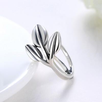 Leaf Cute S925 Silver Promise Rings
