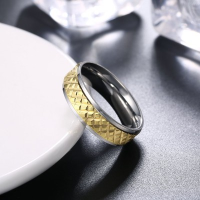 Nice Silver and Gold Titanium Rings for Men