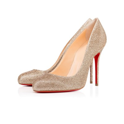 Women's Closed Toe Sparkling Glitter Stiletto Heel High Heels