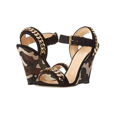 Women's Wedge Heel Sheepskin Peep Toe With Chain Sandals Shoes