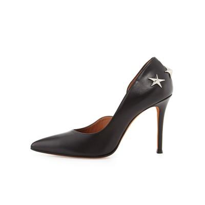 Women's Sheepskin Closed Toe Stiletto Heel Office High Heels