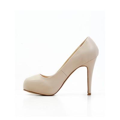 Women's Stiletto Heel Sheepskin Closed Toe Platform Platforms Shoes